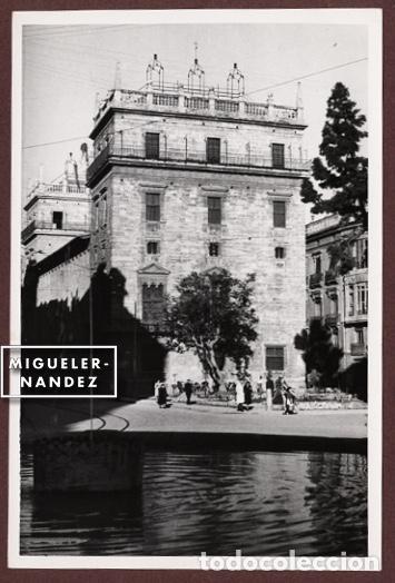 VALENCIA - ANTIGUA FOTOGRAFÍA PALACIO DE LA GENERALIDAD, COPIA VINTAGE 12 X 17,5 CM. CA 1960 (Fotografía - Artística)