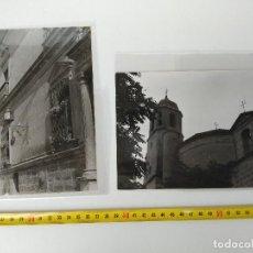 Fotografía antigua: LOTE DE 2 FOTOGRAFÍAS MONUMENTOS DE ÚBEDA FIRMADO BARAS. Lote 114733743