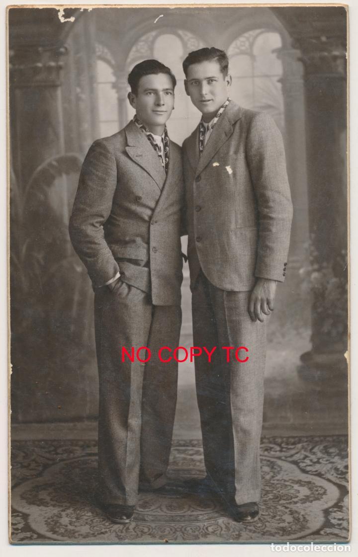 FOTOGRAFÍA VALENCIA JULIO DERREY 1936 PAREJA DE JÓVENES POSANDO FOTO DE ESTUDIO (Photography - Artistic Photography)