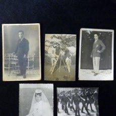 Fotografía antigua: LOTE DE 5 ANTIGUAS FOTOGRAFÍAS. AÑOS 30-60. Lote 115066115