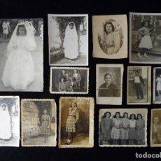 Fotografía antigua: LOTE DE 13 ANTIGUAS FOTOGRAFIAS. AÑOS 30-50. Lote 115067279