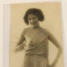 Fotografía antigua: FOTOGRÁFICA DESNUDO FEMENINO TAMAÑO POSTAL . Lote 115120023