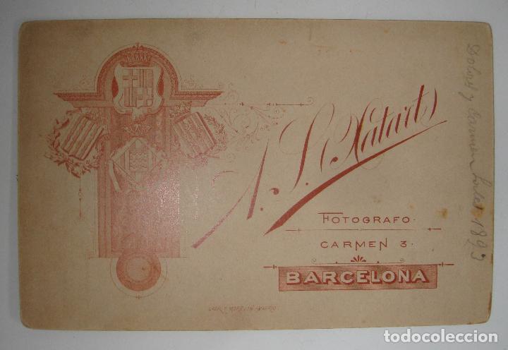 Fotografía antigua: (ALB-TC-19) ANTIGUA FOTOGRAFIA SEÑORAS FOTOGRAFO A XATART DATA 1893 - Foto 2 - 115554627
