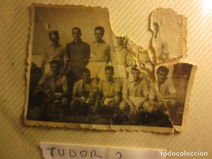 Fotografía antigua: PANTILLA ANTIGUA FUTBOL FOTO REVERSO PONE TUDOR . - Foto 3 - 115650247