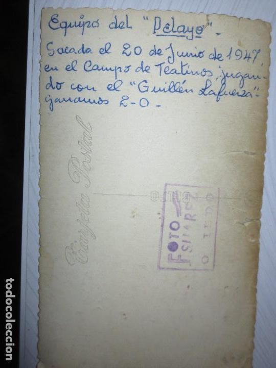 Fotografía antigua: FOTO ANTIGUA EQUIPÒ FUNDADOR FUTBOL PELAYO DE GIJON 1947 CAMPO TEATINOS OVIEDO - Foto 5 - 109008135
