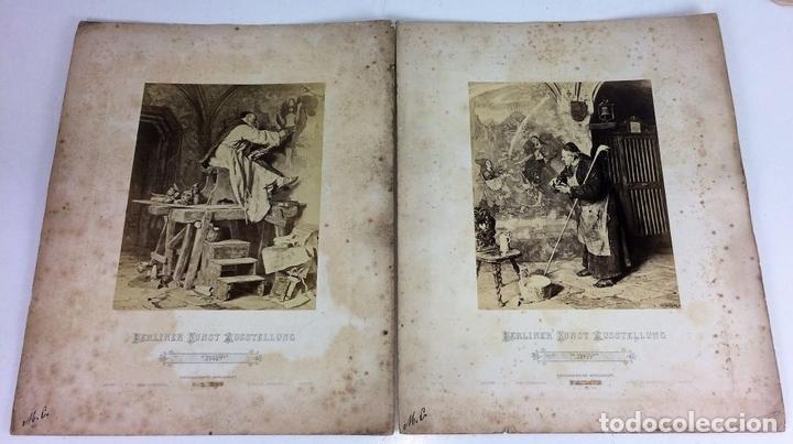 Fotografía antigua: 2 FOTOGRAFÍAS DE PINTURAS. PHOTOGRAPHIE GESELSCHAFT. VIENA. AUSTRIA.FIN SIGLO XIX - Foto 2 - 116450491
