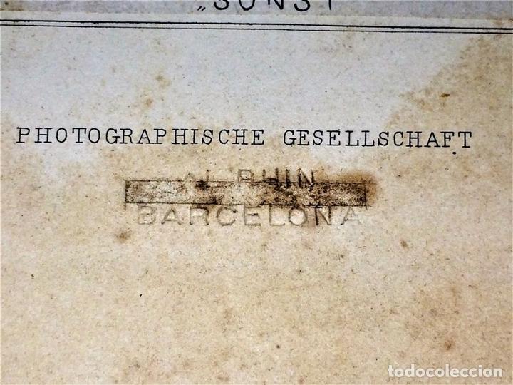 Fotografía antigua: 2 FOTOGRAFÍAS DE PINTURAS. PHOTOGRAPHIE GESELSCHAFT. VIENA. AUSTRIA.FIN SIGLO XIX - Foto 7 - 116450491