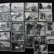 Fotografía antigua: 21 FOTOS MADRID AÑOS 50, VARIAS CASA DE FIERAS DROMEDARIO,JAULA DEL OSO, OSO POLAR, RETIRO, CIBELES. Lote 116561511
