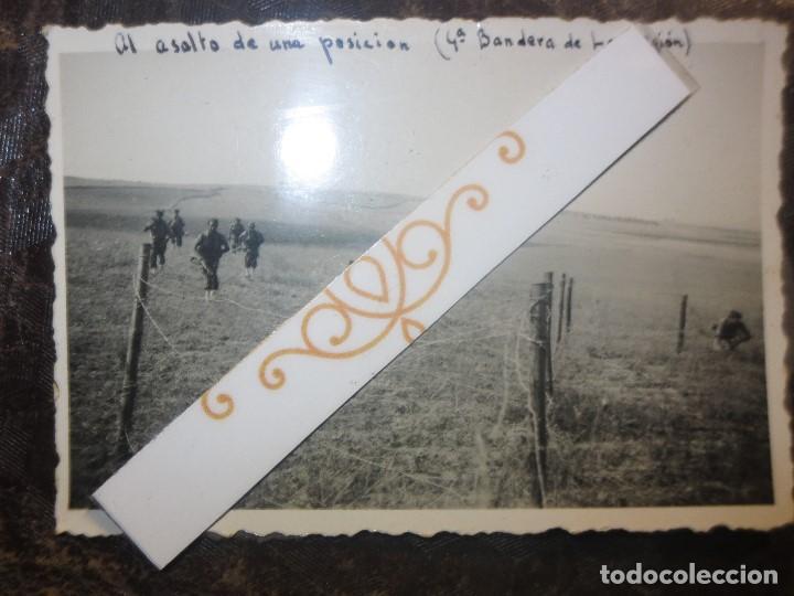BATALLA AL ASALTO DE POSICION 4ª BANDERA CATALUÑA LEGION 1938 FOTO ORIGINAL GUERRA CIVIL ESPAÑA (Fotografía - Artística)