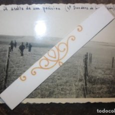 Fotografía antigua: BATALLA AL ASALTO DE POSICION 4ª BANDERA CATALUÑA LEGION 1938 FOTO ORIGINAL GUERRA CIVIL ESPAÑA. Lote 118682831