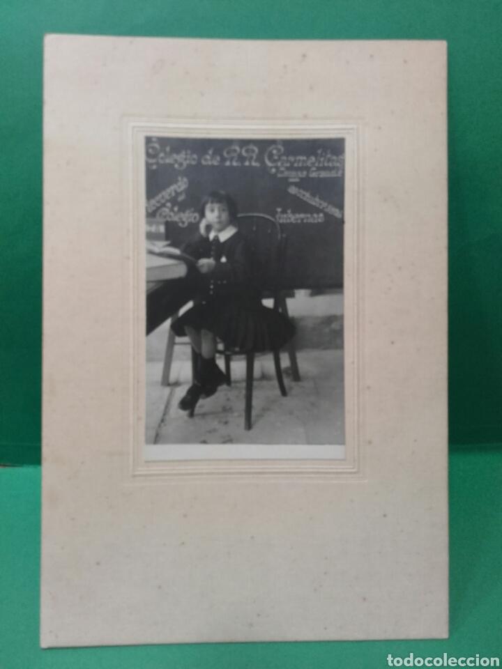 Fotografía antigua: RECUERDO DEL COLEGIO, CARMELITAS DEL CAMPO GRANDE DE VALLADOLID - Foto 2 - 119421892
