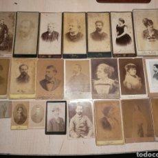 Alte Fotografie - Rebajado!!!. Lote de 22 fotos antiguas, J. Martí, Mora y otros., fotografía s-xix. - 119943378
