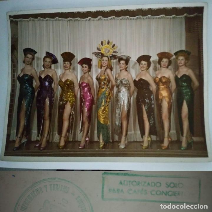 1954 FOTO 9 CHICAS SELLO MINISTERIO DE INFORMACIÓN Y TURISMO - AUTORIZADO SÓLO PARA CAFÉS CONCIERTO (Fotografía - Artística)