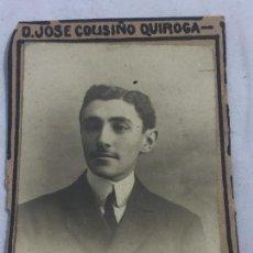 Fotografía antigua: FOTO ANTIGUA RETRATO JOSÉ COUSIÑO QUIROGA ORLA FACULTAD DE DERECHO AÑO 1907. Lote 120569611