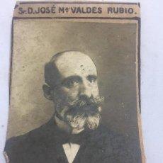Fotografía antigua: FOTO ANTIGUA RETRATO PROFESOR FACULTAD DE DERECHO MADRID AÑO 1907JOSÉ MARÍA VALDES RUBIO. Lote 120580883