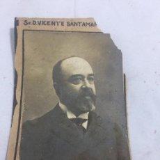 Fotografía antigua: FOTO ANTIGUA RETRATO PROFESOR DERECHO POLITICO FACULTAD DERECHO MADRID AÑO 1907 VICENTE SANTAMARÍA. Lote 120580955