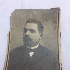 Fotografía antigua: FOTO ANTIGUA RETRATO PROFESOR DERECHO ROMANO FACULTAD DERECHO MADRID AÑO 1907 . Lote 120580987
