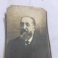 Fotografía antigua: FOTO ANTIGUA RETRATO PROFESOR DERECHO NATURAL FACULTAD DERECHO MADRID AÑO 1907 . Lote 120581011