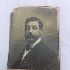 Fotografía antigua: FOTO ANTIGUA RETRATO PROFESOR DERECHO MERCANTIL FACULTAD DERECHO MADRID AÑO 1907 . Lote 120581167