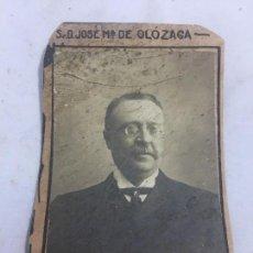 Fotografía antigua: FOTO ANTIGUA RETRATO PROFESOR ECONOMÍA POLÍTICA FACULTAD DERECHO MADRID 1907 JOSÉ DE OLOZAGA. Lote 120581295
