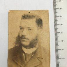 Fotografía antigua: FOTO. RETRATO DE CABALLERO. FOTOG. ANÓNIMO. H. 1900?. Lote 120905206