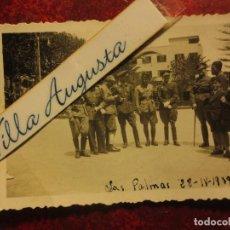 GRAN CAPITAN TERCIO MANDOS OFICIALES LAS PALMAS 28 -IV -1939 FOTO INEDITA LEGION GUERRA CIVIL