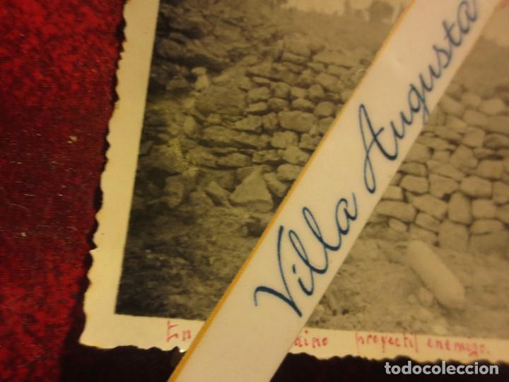 Fotografía antigua: MADRUGADA MUNICIONAN MULOS PROYECTIL ENEMIGO BATALLA DEL EBRO 1939 GUERRA CIVIL LEGION FIRMADA - Foto 3 - 120946595