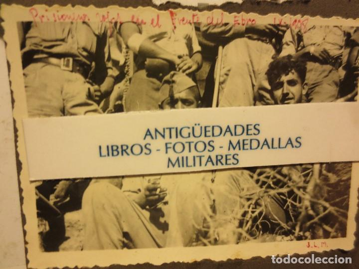 BATALLA DEL EBRO FOTO ORIGINAL INEDITA SOLDADOS PRISIONEROS IX - 1938 GUERRA CIVIL (Fotografía - Artística)