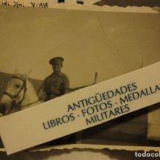 Fotografía antigua: FOTO ORIGINAL INEDITA OFICIAL TENIENTE DE LEGION A CABALLO SIDI IFNI GUERRA CIVIL V-1939. Lote 121281127