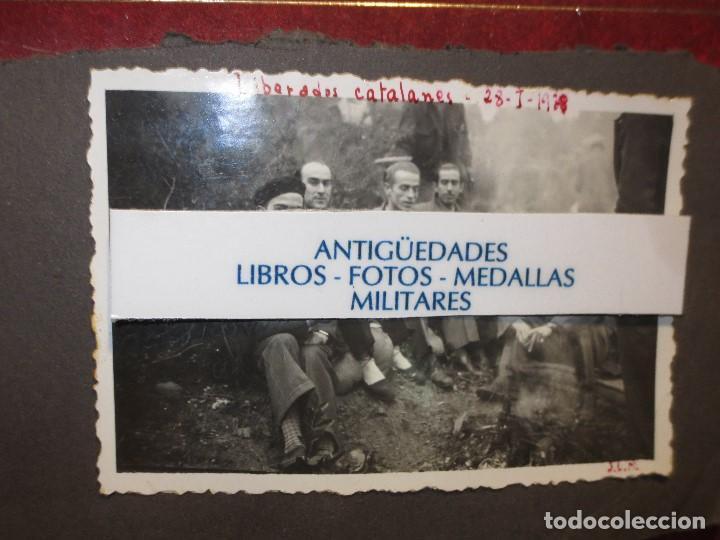 FOTO ORIGINAL LIBERADOS CATALANES 28- I- 1938 EN BATALLA DE GUERRA CIVIL ESPAÑOLA LEGION CATALUÑA (Fotografía - Artística)