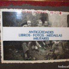 Fotografía antigua: FOTO ORIGINAL LIBERADOS CATALANES 28- I- 1938 EN BATALLA DE GUERRA CIVIL ESPAÑOLA LEGION CATALUÑA. Lote 121317059