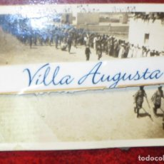 Fotografía antigua: REGULARES 19-V-1939 EL TABOR 2ª COMPAÑIA DESFILE CON LA CABRA GUERRA CIVIL LEGION MELILLA. Lote 121411331