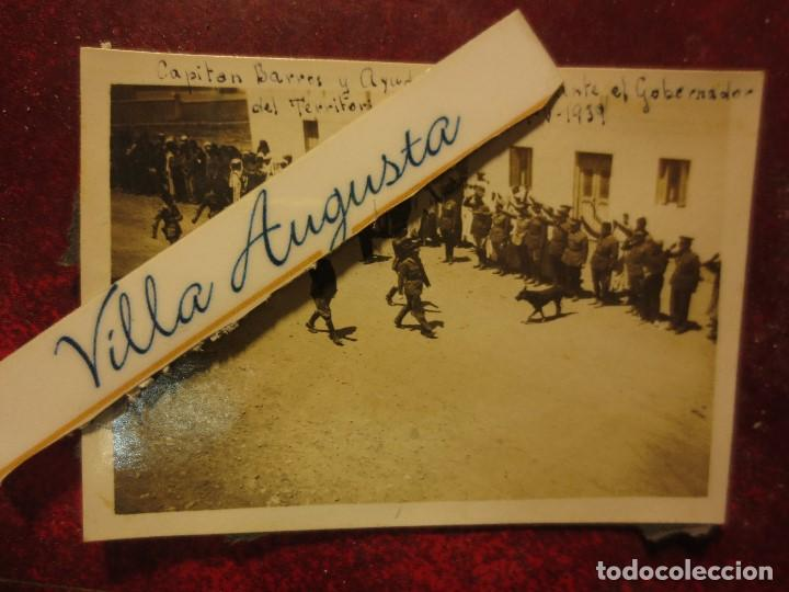 CAPITAN BARRON DESFILE ANTE GOBERNADOR DEL TERRITORIO DE IFNI 19 V 1939 REGULARES GUERRA CIVIL (Fotografía - Artística)