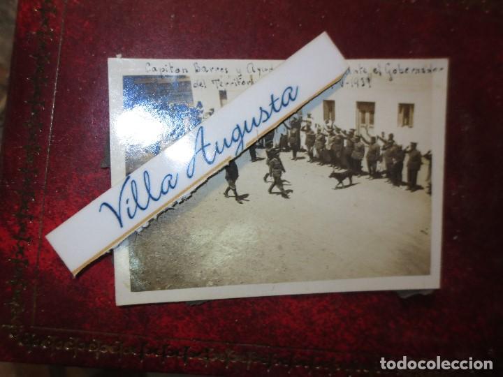 Fotografía antigua: CAPITAN BARRON DESFILE ANTE GOBERNADOR DEL TERRITORIO DE IFNI 19 V 1939 REGULARES GUERRA CIVIL - Foto 2 - 121411863