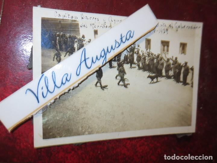 Fotografía antigua: CAPITAN BARRON DESFILE ANTE GOBERNADOR DEL TERRITORIO DE IFNI 19 V 1939 REGULARES GUERRA CIVIL - Foto 3 - 121411863