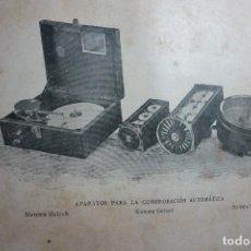 Fotografía antigua: AÑO 1896 COLOMBOFILIA. APARATOS PARA LA COMPROBACION AUTOMATICA. Lote 122147127