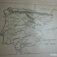 Fotografía antigua: AÑO 1896 COLOMBOFILIA. RED DE PALOMARES MILITARES DE ESPAÑA Y PORTUGAL. Lote 122154131