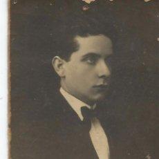 Fotografía antigua: == S236 - FOTOGRAFIA - APUESTO JOVEN - CON DEDICATORIA 1918. Lote 122168695