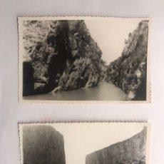 Fotografía antigua: CHULILLA (VALENCIA) FOTOGRAFÍAS EMBALSE (H.196O?). Lote 122494055