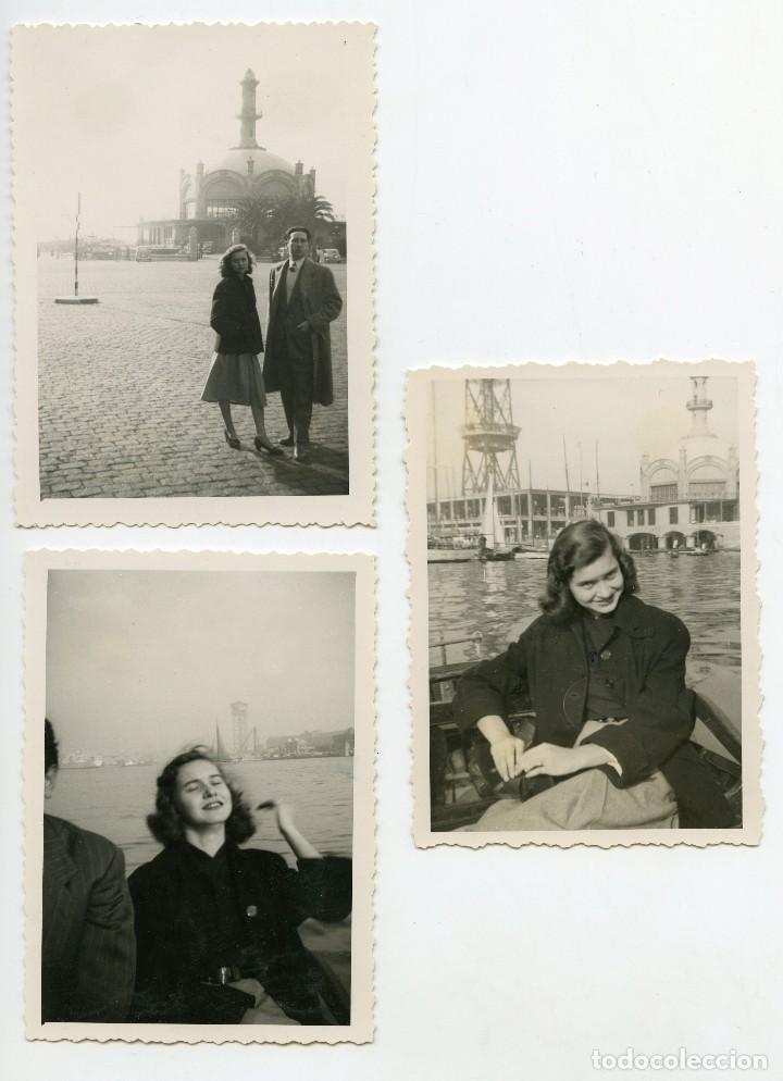 Fotografía antigua: Real Club Marítim, Barcelona, Arquitecto Sagnier, 1940s, 3 fotos - Foto 2 - 123062963