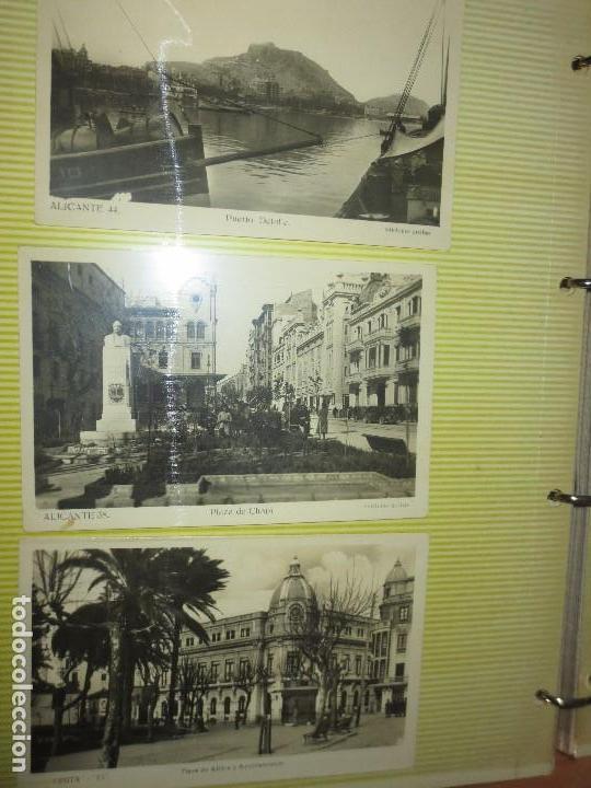 Fotografía antigua: LOTE FOTOS ORIGINALES ANTIGUAS ALICANTE TAMAÑO POSTAL CALLES - Foto 2 - 123083987