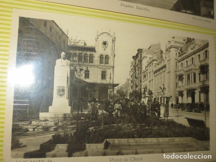 Fotografía antigua: LOTE FOTOS ORIGINALES ANTIGUAS ALICANTE TAMAÑO POSTAL CALLES - Foto 4 - 123083987