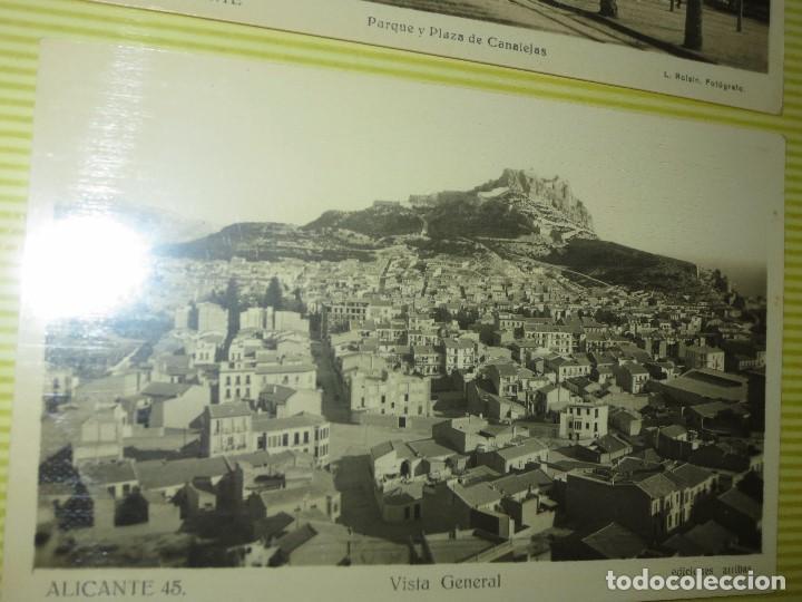 Fotografía antigua: LOTE FOTOS ORIGINALES ANTIGUAS ALICANTE TAMAÑO POSTAL CALLES - Foto 7 - 123083987