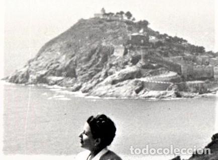 Fotografía antigua: FOTOGRAFIA ORIGINAL AÑOS 30,TOSSA DE MAR Y COCHE CLASICO,COSTA BRAVA,CARRETERA SANT FELIU DE GUIXOLS - Foto 3 - 123275527