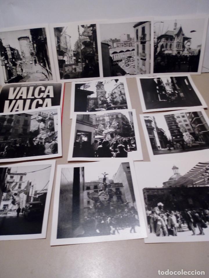 LOTE DE 12 FOTOGRAFIAS ANTIGUAS FALLAS DE VALENCIA EN BLANCO Y NEGRO - 9X9 (Fotografía - Artística)