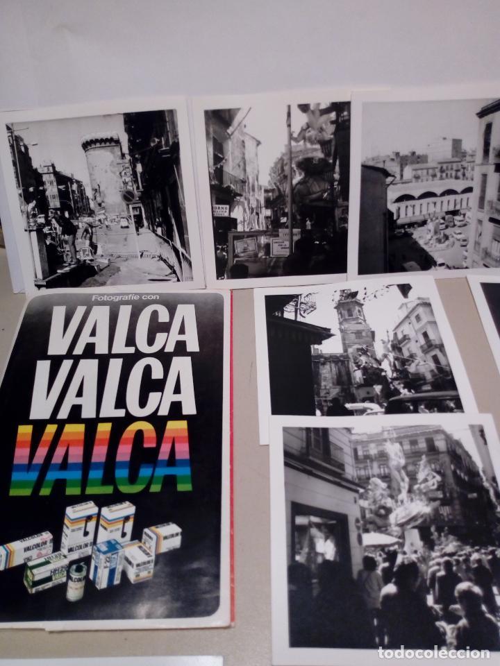 Fotografía antigua: LOTE DE 12 FOTOGRAFIAS ANTIGUAS FALLAS DE VALENCIA EN BLANCO Y NEGRO - 9X9 - Foto 2 - 123605611