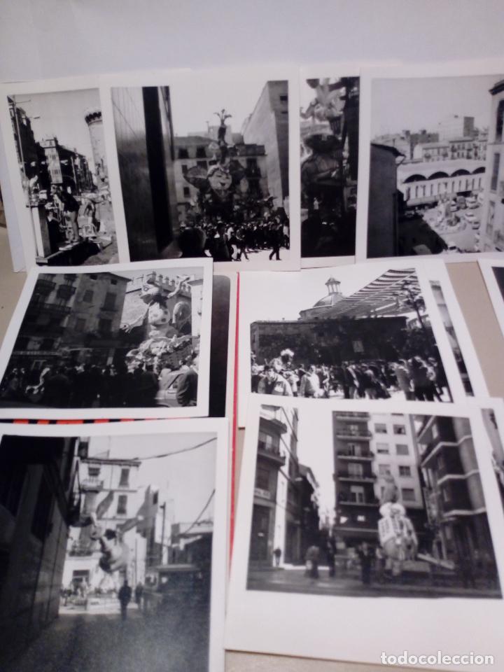 Fotografía antigua: LOTE DE 12 FOTOGRAFIAS ANTIGUAS FALLAS DE VALENCIA EN BLANCO Y NEGRO - 9X9 - Foto 3 - 123605611