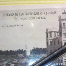 Fotografía antigua: ANTIGUA FABRICA DE CERAMICA CEUTA FOTO POSTAL PUBLICITARIA. Lote 124471703