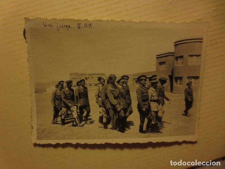 ALTOS MANDOS GENERAL CON OFICIALES FOTO INEDITA LEGION GUERRA CIVIL ESPAÑOLA 1939 SIDI IFNI (Fotografía - Artística)