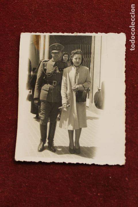 FOTOGRAFIA MILITAR TENIENTE INTENDENCIA, 1942, ZARAGOZA, FOTO CINE SAN GIL (Fotografía - Artística)